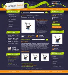 Web design Boutique cadeaux