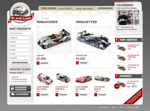 Boutique de miniatures auto